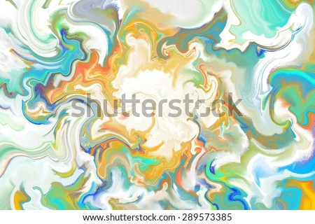 white and green abstract painting in nebula waveform/white and green nebula waveform painting/white and green abstract painting in nebula waveform for background