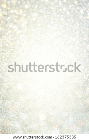 White And Grey Bokeh Lights. Defocused Background