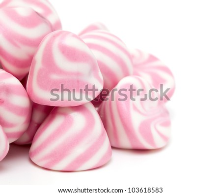 white and pink marshmallow