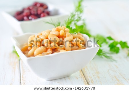 white and red beans