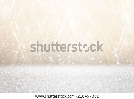 white and silver abstract bokeh lights. defocused background  #218457331