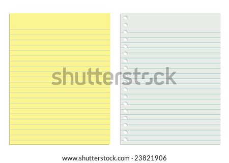 White and yellow vector paper (JPG & Vector available in my portfolio) - stock photo