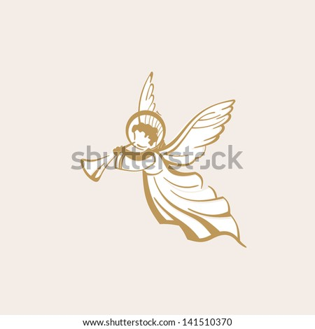 White Angel with trumpet