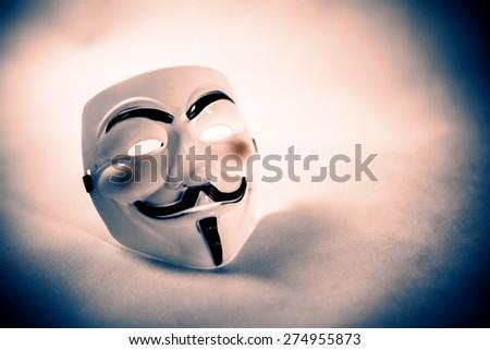 white anonymous mask on white