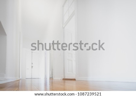 white apartment , empty room newly renovated - interior -