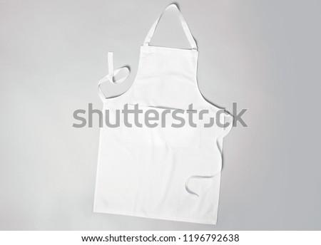 White apron grey background Stockfoto ©