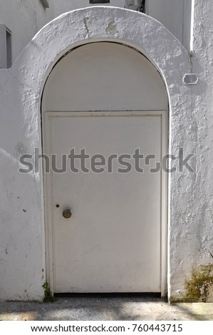 White arch and door  #760443715