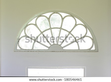 white architecture colonial style design detail