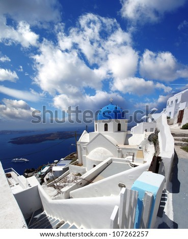 White architecture in Santorini island in Greece