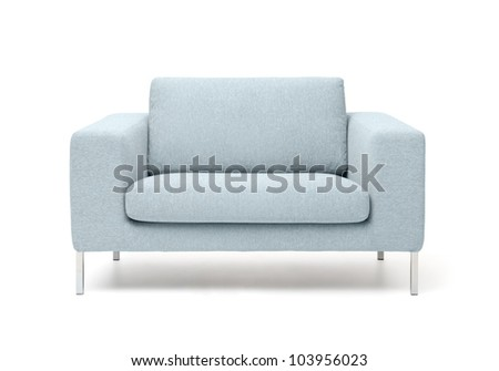 white armchair isolated on white background
