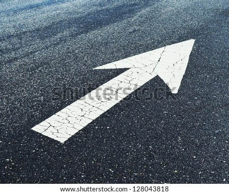 White arrow on Surface traffic
