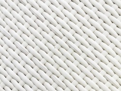 White Artificial Rattan Background