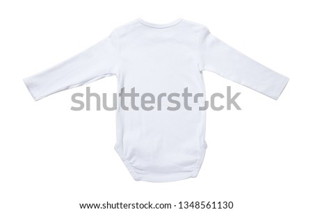 83884d18d White baby onesie rear isolated on white background. Good for insert your  design. Mock