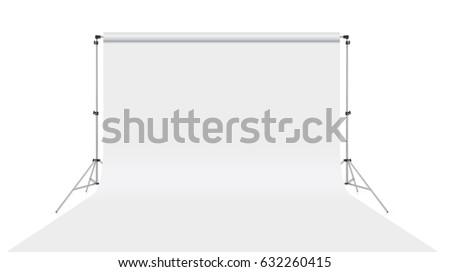 White backdrop isolated on white