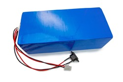 White backdrop lithium battery Battery pack