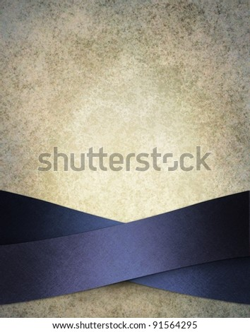 white background illustration with blue ribbons in snowy frosty winter layout design on border of frame, has vintage grunge texture