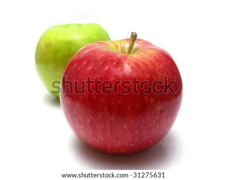 white background of apples #31275631