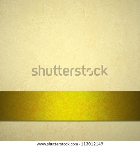 white background or light brown background with gold ribbon - stock photo