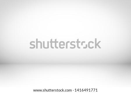 White Background. Studio white gradient floor