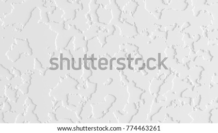 White background, texture of plaster, paper, wall. 3d illustration, 3d rendering.