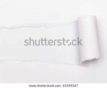 white background visible through the gray paper wrapped