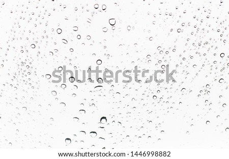 white background with closeup raindrops, nobody, isolated