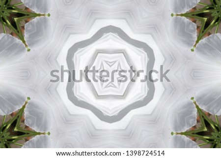 White background with geometric shapes  #1398724514
