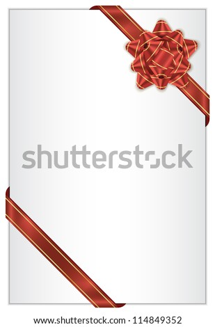 White background with red bow