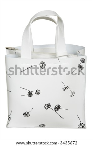 White bag with figure on a white background
