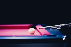 White Ball and Snooker Player, man play snooker