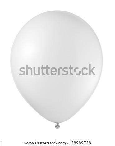 white balloon soaring on a white background #138989738