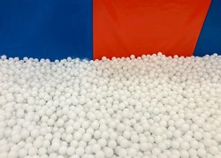 white balls in the dry pool
