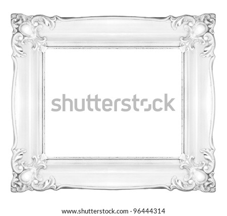 Royalty-free White blank old frame of gypsum in the… #386556139 ...