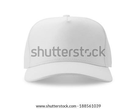 White baseball cap isolated on white background