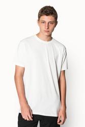 White basic t-shirt for boys' youth apparel studio shoot