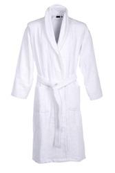 White bath robe isolated on white