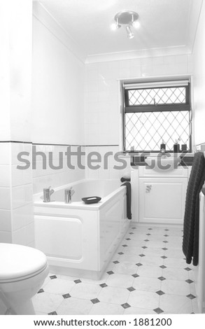 White bathroom in UK home