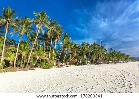 White beach on Boracay island, Philippines  #178200341