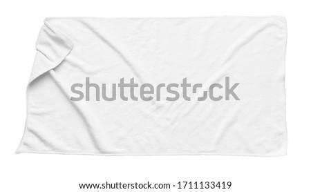 White beach towel isolated white background Foto stock ©
