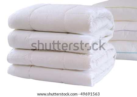 White bedding. Isolated