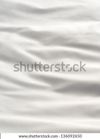 White Bedding Sheet With Folds