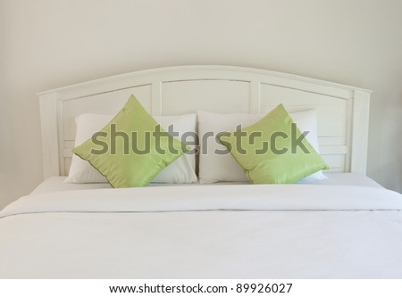 white bedroom and pillow