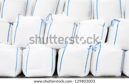 White big bags with goods
