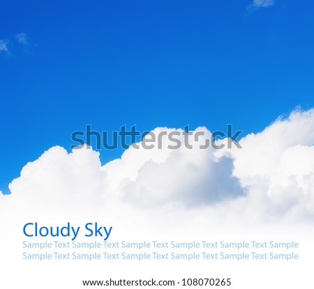 White big cloud on blue sky