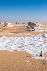 White & Black Desert in Egypt Camping under the stars