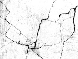 White black grey concrete wall, floor with cracks, texture background