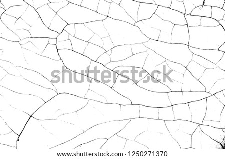 White black grey wall, floor with cracks, texture background #1250271370