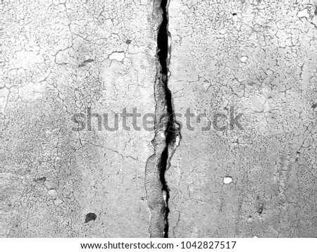 White black grey wall with cracks, texture background #1042827517