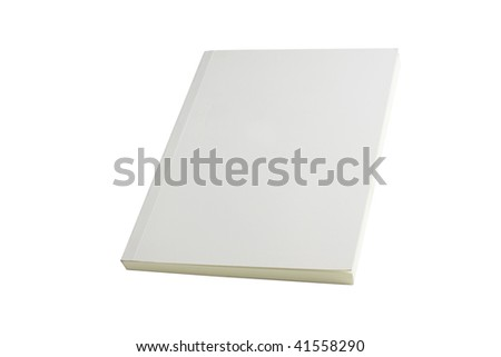 white blank book brochure on white background