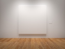 White Blank Canvas In An Exhibition
